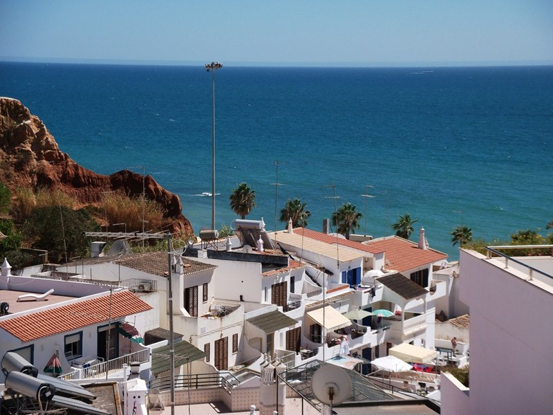 Apartment in Portugal, Olhos de Agua: View from Apartment Balcony