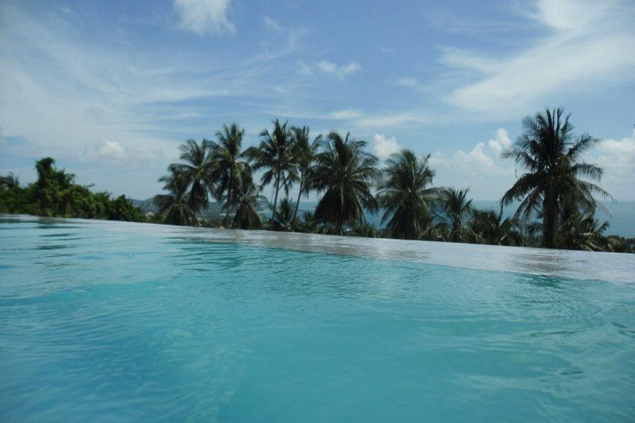 Villa in Thailand, Chaweng Noi: view from pool