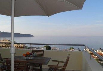 Villa in Greece, Agia Marina: Blue Villa II breathtaking view from the veranda