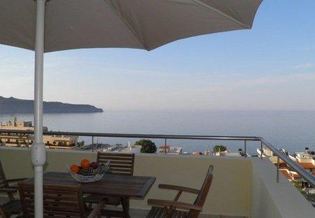 Villa in Agia Marina, Crete: Blue Villa II breathtaking view from the veranda