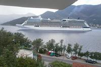 Villa in Montenegro, Tivat: View from balcony watch the large liners on their way to Kotor