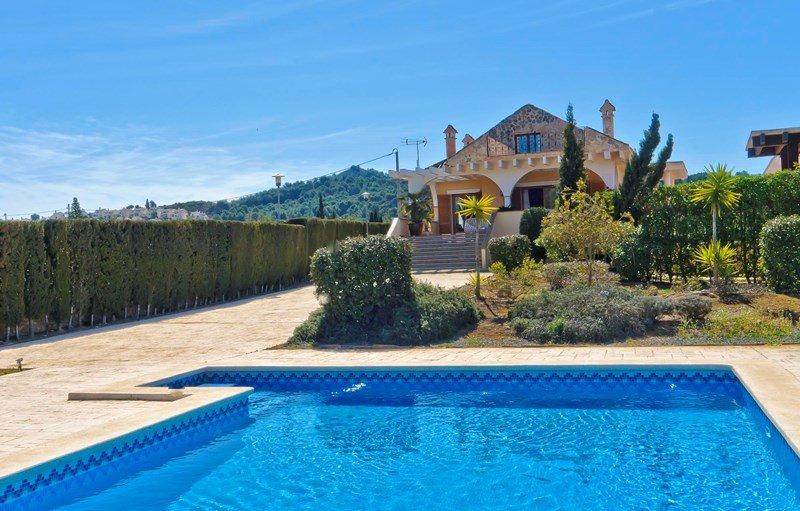 Villa in Spain, La Manga Club & Resort: View from pool towards villa.
