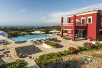 Villa in Greece, Roda: The pool with great sea views !!