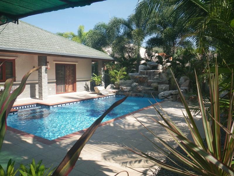 Villa in Thailand, PAK NAM PRAN: View of Pool and Water Fall