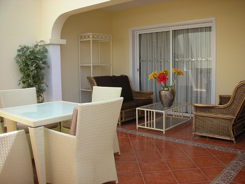 Apartment in Spain, Golf del Sur: The bottom terrace is ideal for relaxing