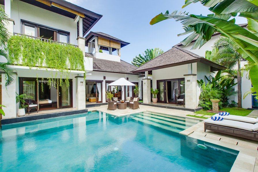 Owners abroad Villa Cempaka. Family Residence with roof-top bale