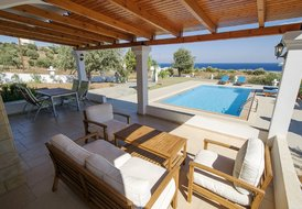 sea view pool villa in picturesque landscape of Kalathos