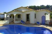 Villa in Spain, Moraira Town: Upper terrace and pool