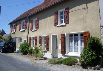 House in France, Carentan: Front of house with parking