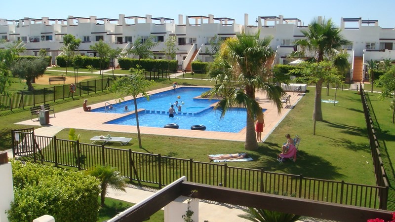 Apartment in Spain, Condado de Alhama: Pool View From Roof Terrace