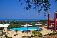 Villa in Greece, Roda: Pool with a view