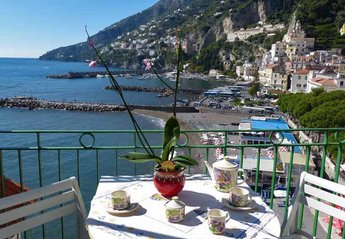 Apartment in Italy, Amalfi: 01 Casa Marina balcony with sea view