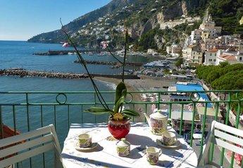 Apartment in Italy, Amalfi: Casa Marina balcony with sea view