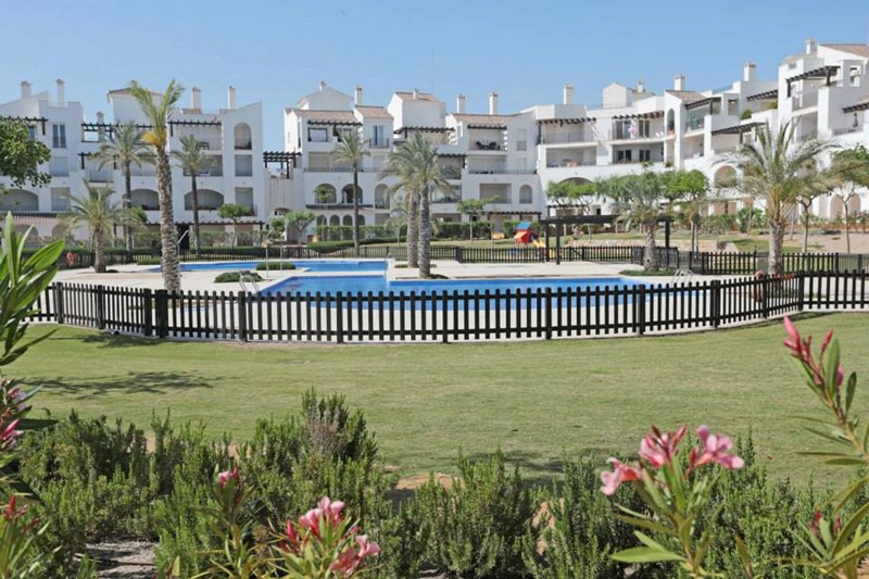 Penthouse apartment in Spain, La Torre Golf Resort (Polaris World): View of the swimming pools fro..