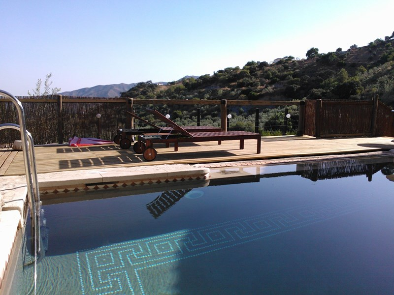 Apartment in Spain, Alora, El chorro: Private Pool with view of Valley