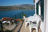 Apartment in Croatia, Ciovo: balcony with lovely sea view