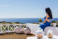 Villa in Greece, Oia: Magnificent views of the infinite blue.