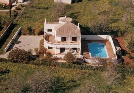 Villa in Praia da Luz, Algarve: Casa Alimas from the air - taken in winter!