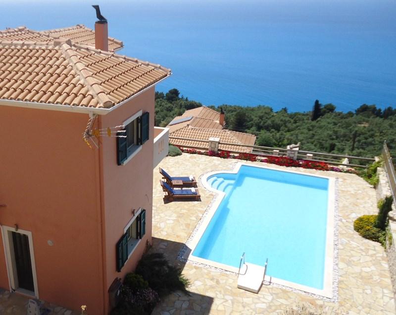 Villa in Greece, Lefkas Island: Wonderful and uninterrupted seaviews