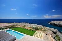 Luxurious minimalist villa on the sea front