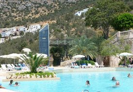 Apartment in Kalkan, Turkey: You could always take the lift down to the salt water family pool, si..