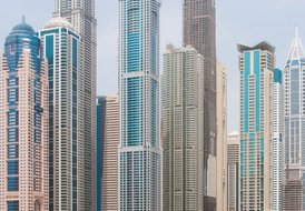 Dubai Marina Apartment with part marina views