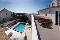 Penthouse_apartment in Croatia, Town of Hvar: Roof Terrace with sea and pool view
