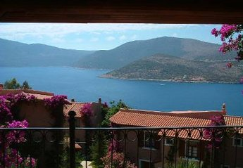 Apartment in Turkey, Patara Prince Kisla: Balcony views of sea, Kalkan and harbour