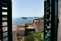 House in Croatia, Town of Hvar: View from double bedroom