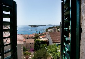 House in Hvar center with panoramic sea view and roof terrace
