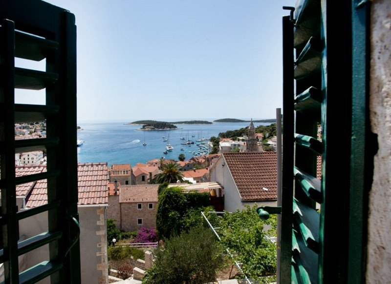 House in Croatia, Hvar: View from double bedroom