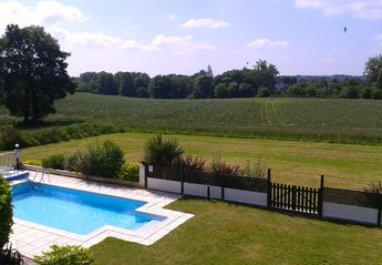 Farm House in France, Cotes-d'Armor: view from bedroom!