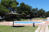 Apartment in Spain, Duquesa Golf Club: View of one of the pools leading from the Gardens