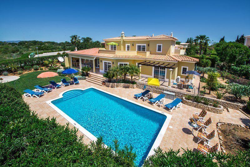 Villa in Portugal, Boa Nova: Panoramic view of Villa and Garden