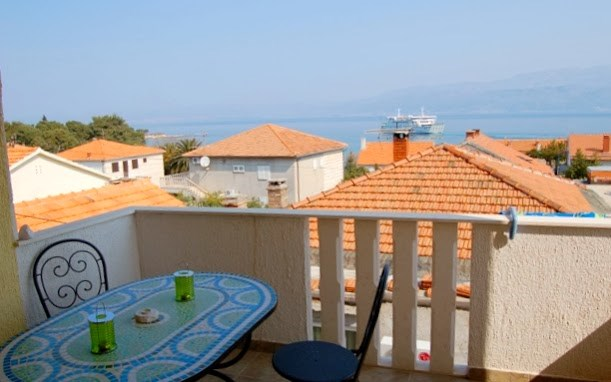 Apartment in Croatia, Supetar: Sea view from the balcony