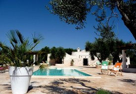 Stone Trullo in Puglia, Italy with private pool