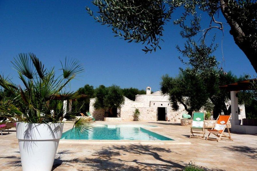 Stone Trullo in Puglia, Italy with private pool