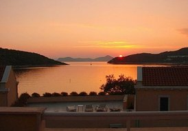 Villa in Croatia, Slano: Villa Clio - Balcony view at sunset