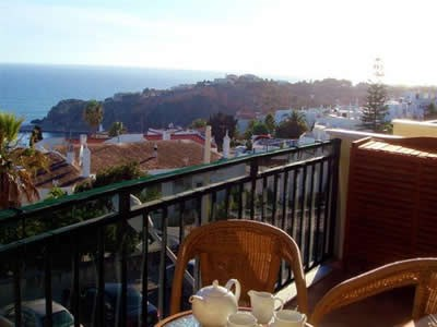 Apartment in Portugal, Albufeira old town: The sea view from the apartments terrace