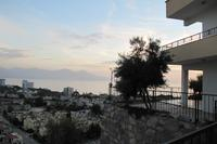 Villa in Turkey, Long Beach: Sunset from the patio..glass of red wine