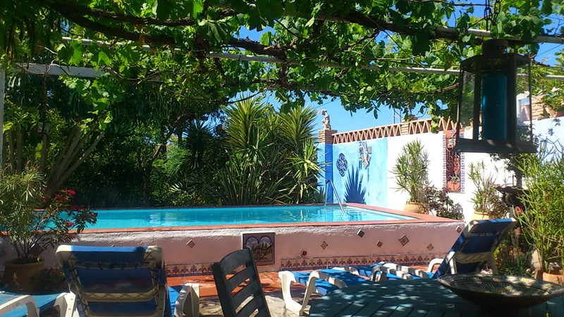 Apartment in Spain, Motril: Swimming pool terrace: shared only with any couple staying Casa Pequeña