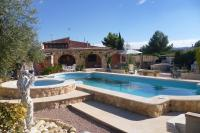 Country_house in Spain, Pinoso: Pool and Garden