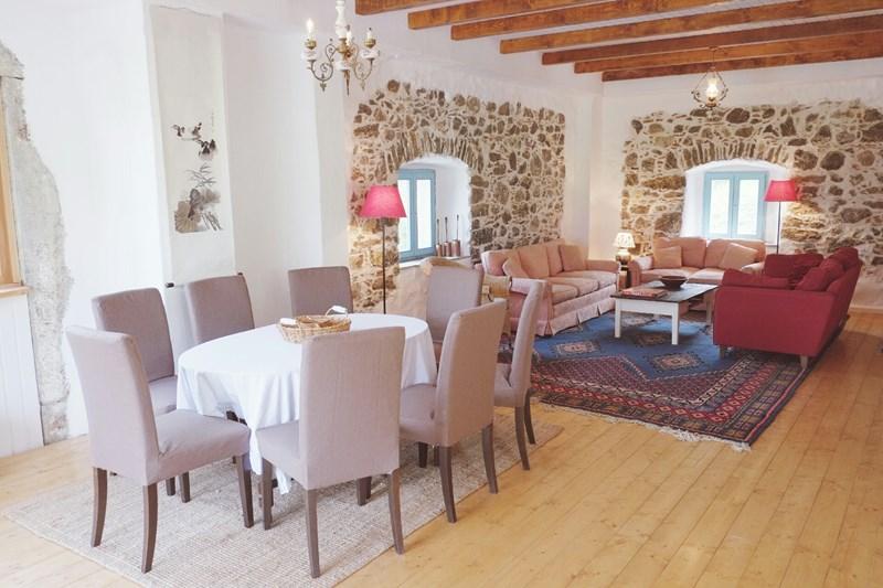 Farm house in Slovenia, Primorska: The Main Floor has an open plan kitchen / dining room / living ..