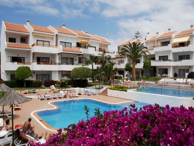 Apartment in Spain, Los Cristianos: The fantastic view of the swimming pool