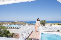 Villa in Greece, Oia: Private outdoor heated hydro-massage spa.