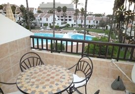 Apartment in Playa de las Américas, Tenerife: The lovely view from the balcony