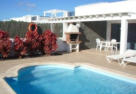 Villa with private pool at Playa Blanca