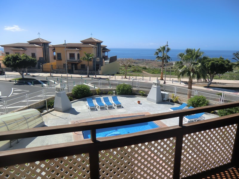 Villa in Spain, Tenerife: The fantastic views from the balcony