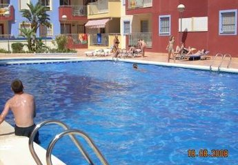 Apartment in Spain, Puerto de Mazarrón: The 25 metre pool is rarely crowded
