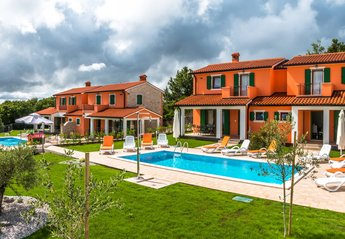 Apartment in Croatia, Rabac: panoramic view of the 2 Villas and pools. one Villa has two apartments